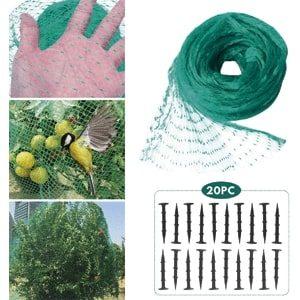 Red malla para anti pajaros hywean para jardin y huerto
