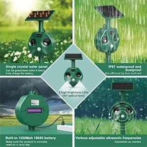 Espantapajaros por ultrasonidos Yaruike solar